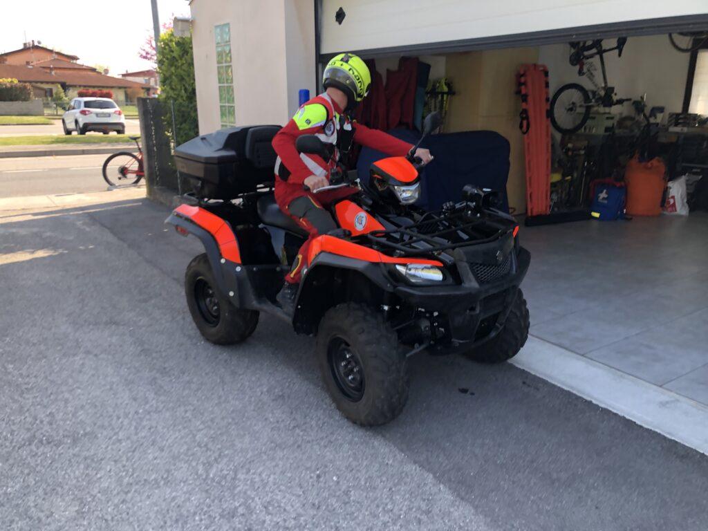 Il quad pronto alla partenza